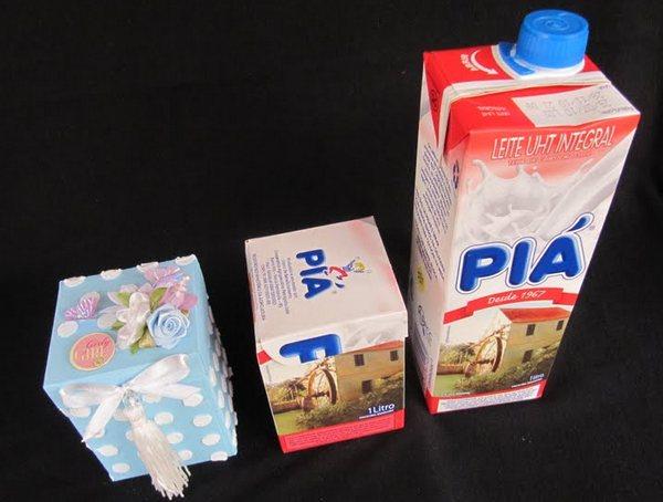 Коробка из молока
