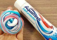 Слайм из зубной пасты